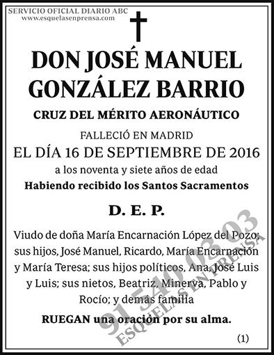José Manuel González Barrio